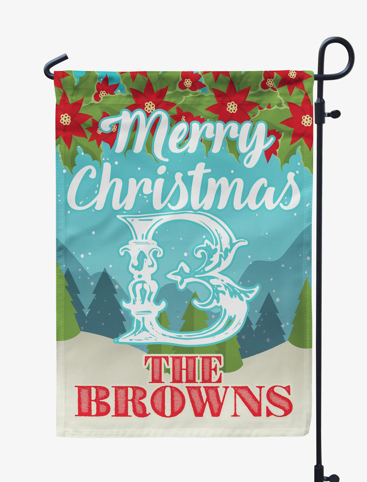 Personalized Merry Christmas Flag