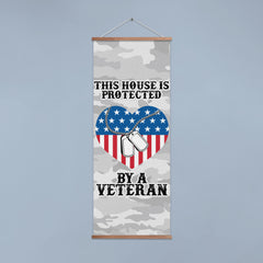 This House/Our Family is Protected by a Veteran-Dog Tag Wall/Door Banner