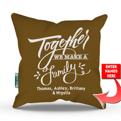 Personalized Together We Make A Family Throw Pillow Cover - 18