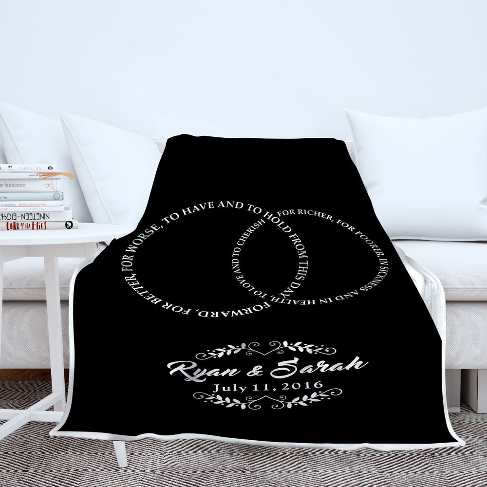 Personalized Wedding Vows Blanket