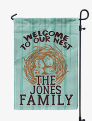Personalized Welcome to Our Nest Flag
