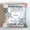 Personalized Grandma Whenever You Touch This Throw Pillow Cover - 18
