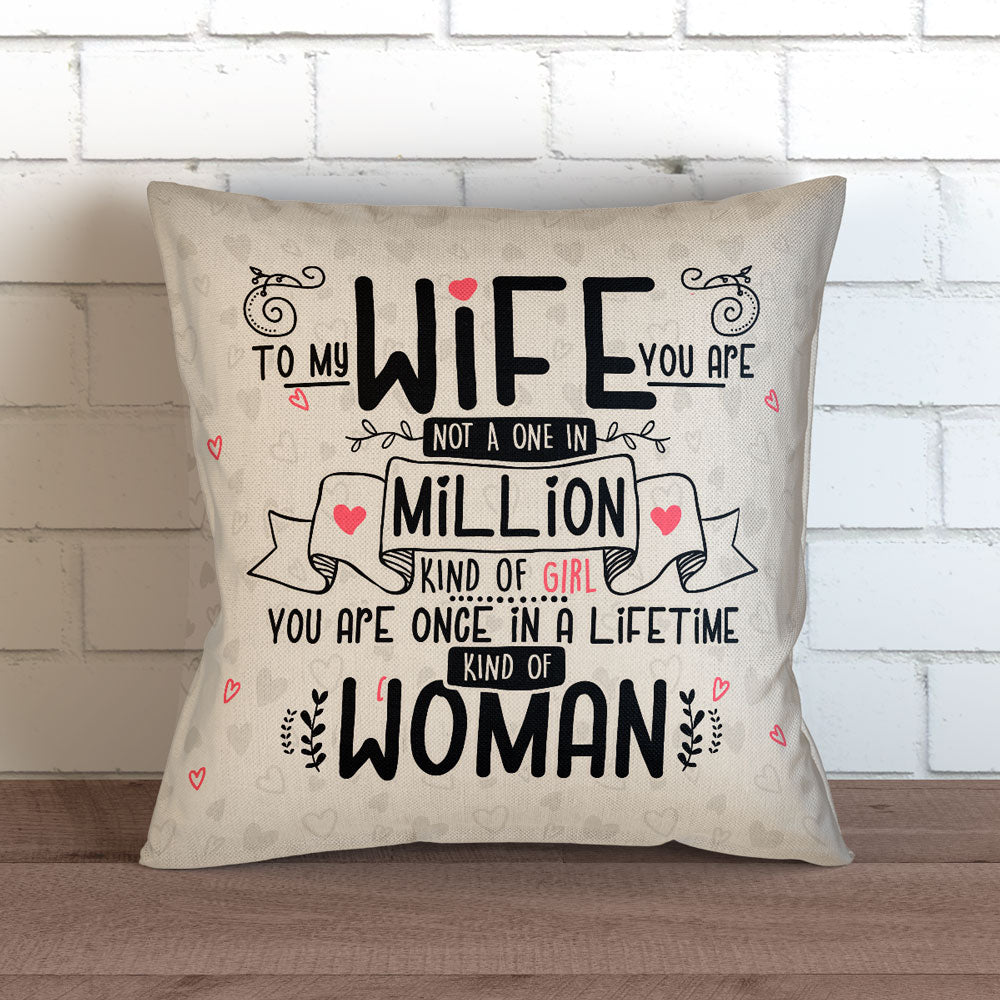 "Wife In A Million Throw Pillow Cover - 18"" x 18"""