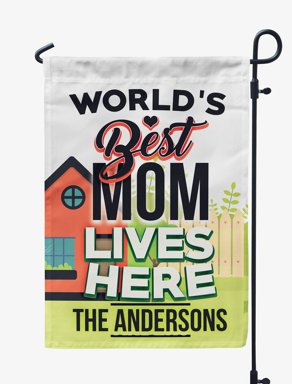 Personalized World's Best Mom Lives Here Flag
