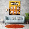 Personalized Grandma's Monsters - Halloween Canvas