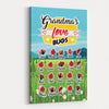 Personalized Grandma's Love Bugs - Canvas