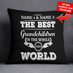 Personalized Best Grandchildren in the World - Throw Pillow Cover - 18