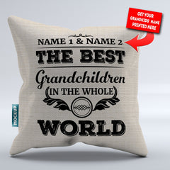 Personalized Best Grandchildren in the World Pillowcover - Throw Pillow Cover - 18