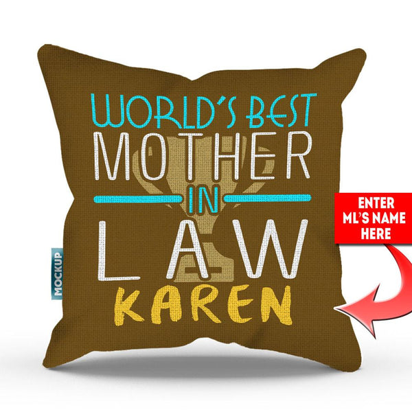 Personalized Best Mother In Law Throw Pillow Cover 18 Quot X