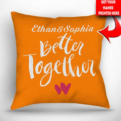 Personalized Better Together Throw Pillow Cover - 18