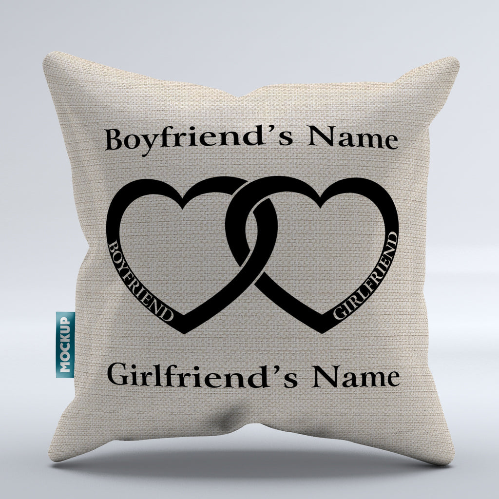 Fabulous Personalized Boyfriend Girlfriend Heart - Throw Pillow Cover - 18  FY72