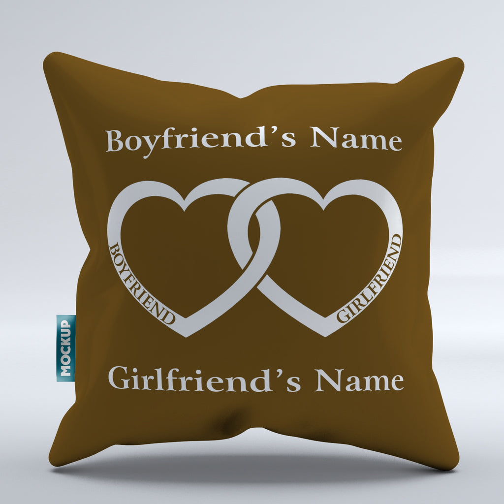 Personalized Butterfly Heart Throw Pillow Cover : Personalized Boyfriend Girlfriend Heart - Throw Pillow Cover - 18