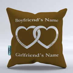 Personalized Boyfriend Girlfriend Heart - Throw Pillow Cover - 18