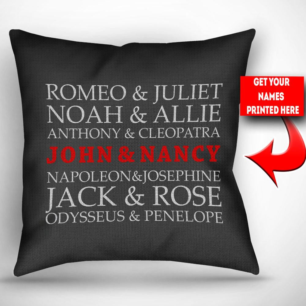 Super Personalized Famous Couple - Throw Pillow Cover - 18