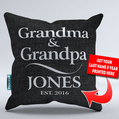 Personalized Grandma and Grandpa Throw Pillow Cover - 18