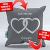 Personalized Husband and Wife Throw Pillow Cover - 18