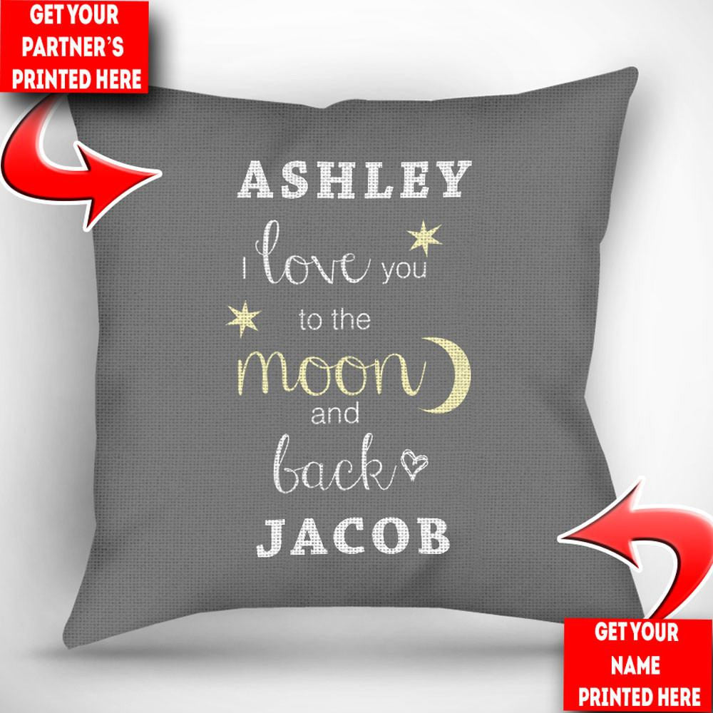 personalized i you to the moon and back throw 87198