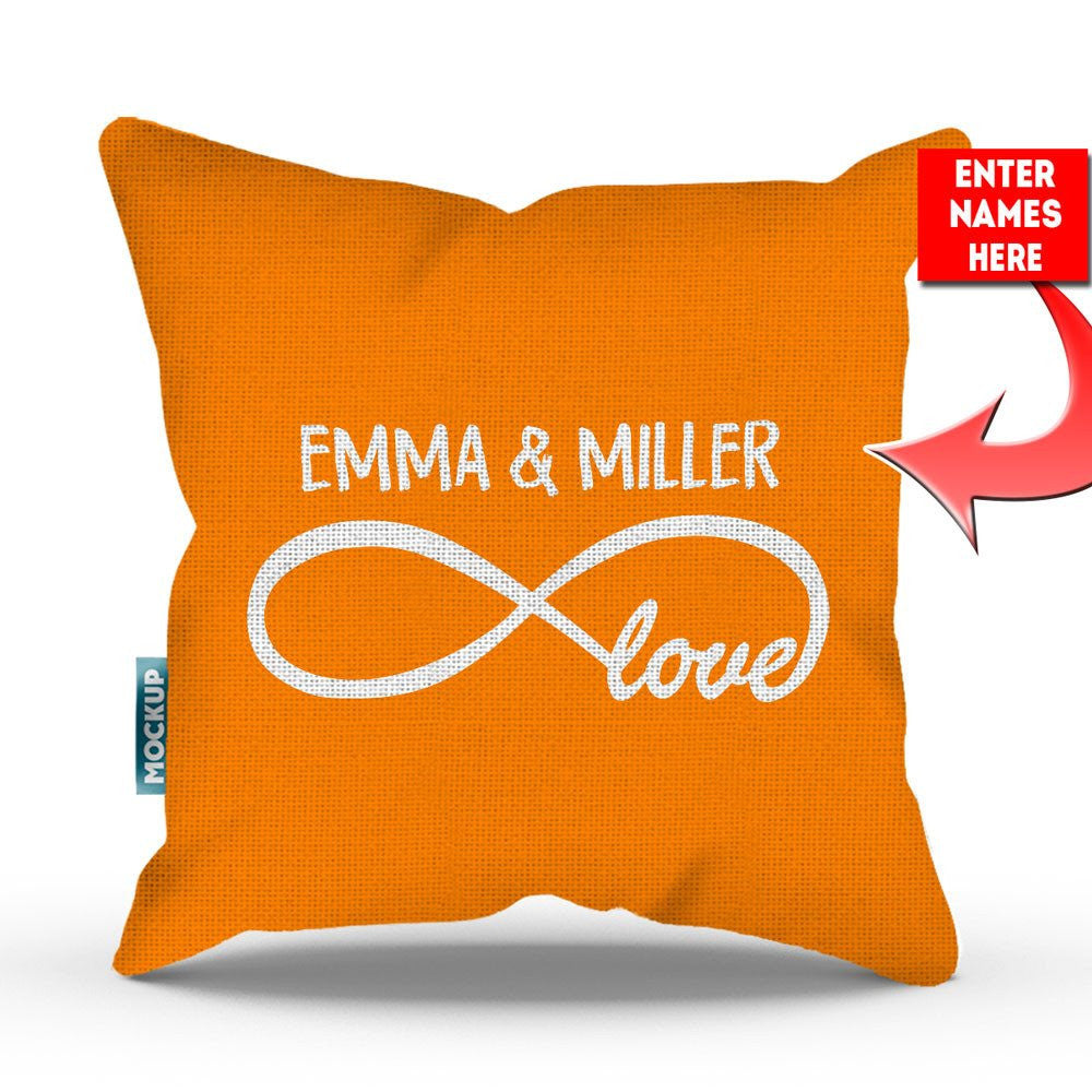 Personalized infinity love throw pillow cover 18 x 18 mostly personalized infinity love throw pillow cover 18 x 18 altavistaventures Images