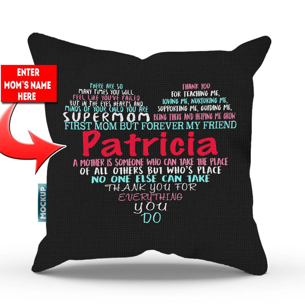personalized mom word art throw pillow cover 18 x 18
