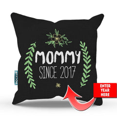 Personalized Mommy Since Throw Pillow Cover - 18