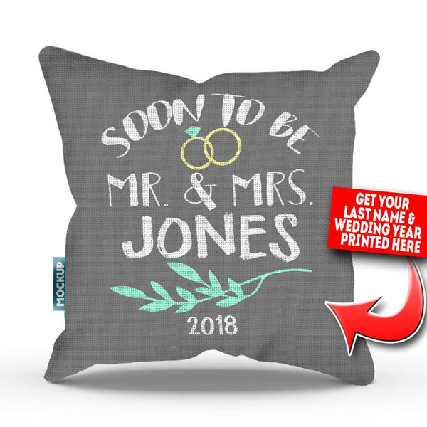 Personalized Soon To Be Mr And Mrs Throw Pillow Cover 18 X 18 Mostly Pillows