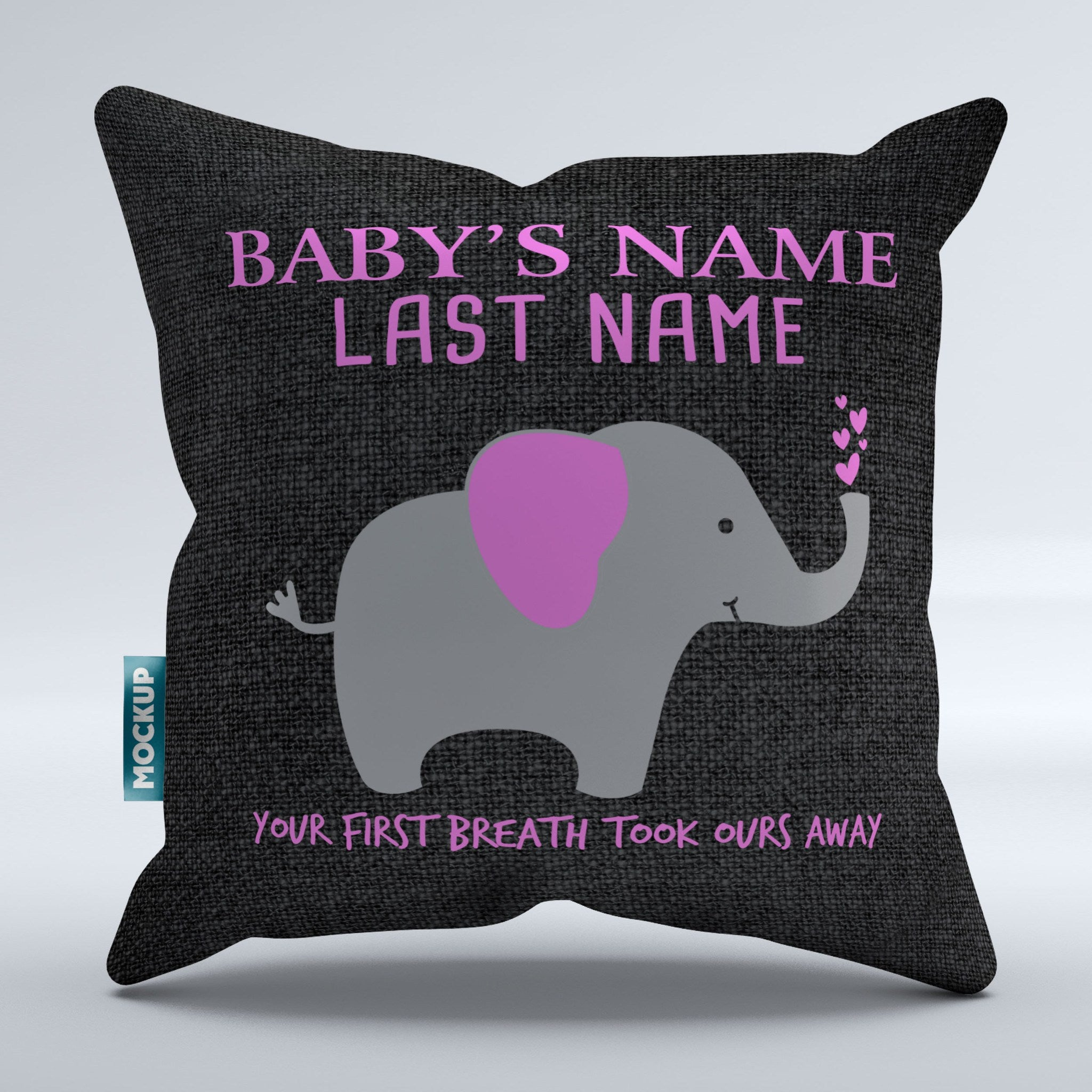 "Personalized Your First Breath Took Ours Away Pillow Cover - Throw Pillow Cover - 18"" x 18"""