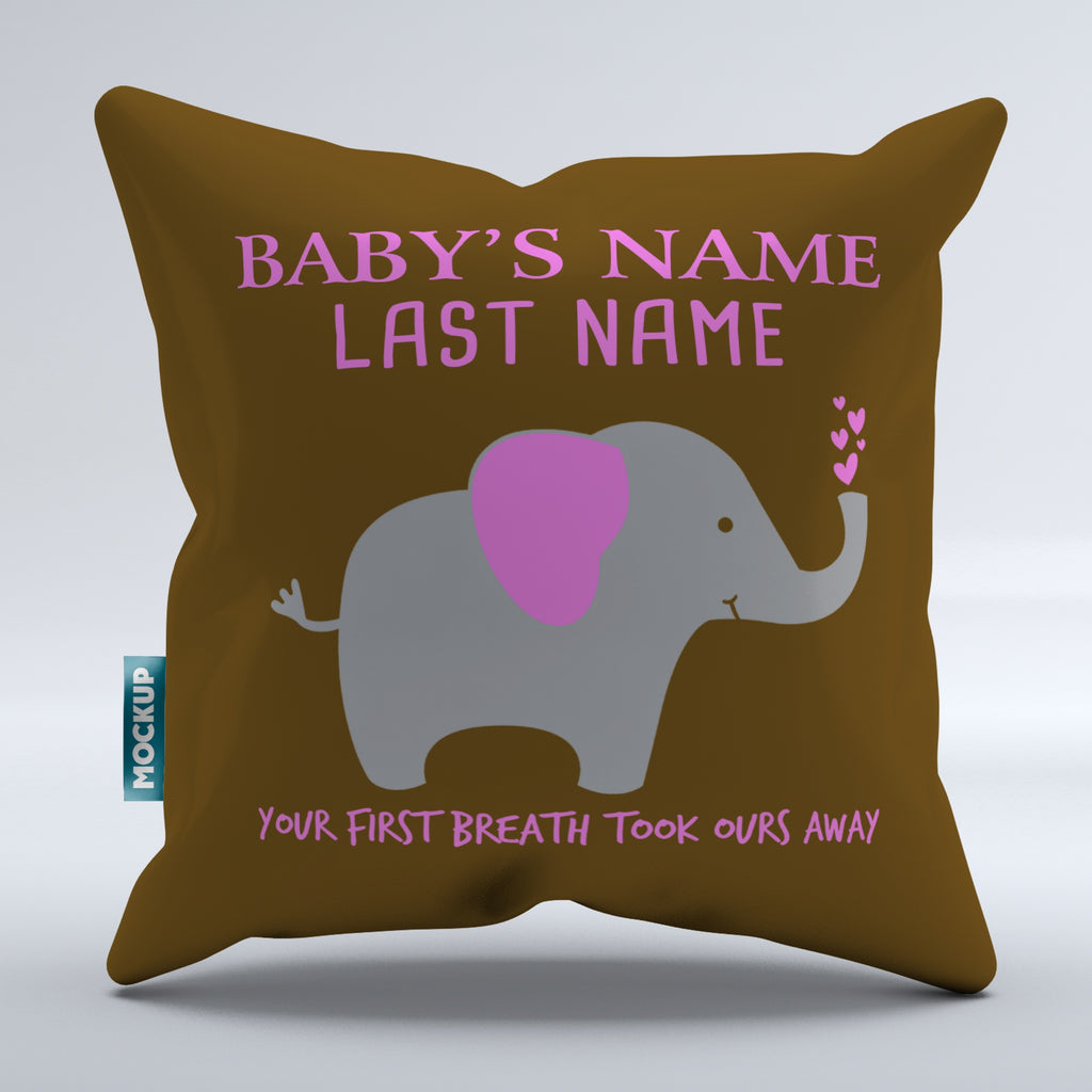 Personalized Your First Breath Took Ours Away Pillow Cover - Throw Pil Mostly Pillows