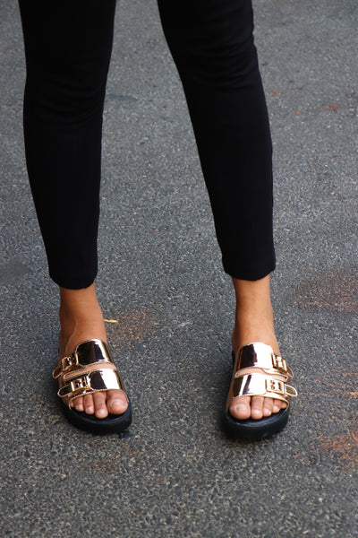 METALLIC BUCKLE SLIDERS - Presa
