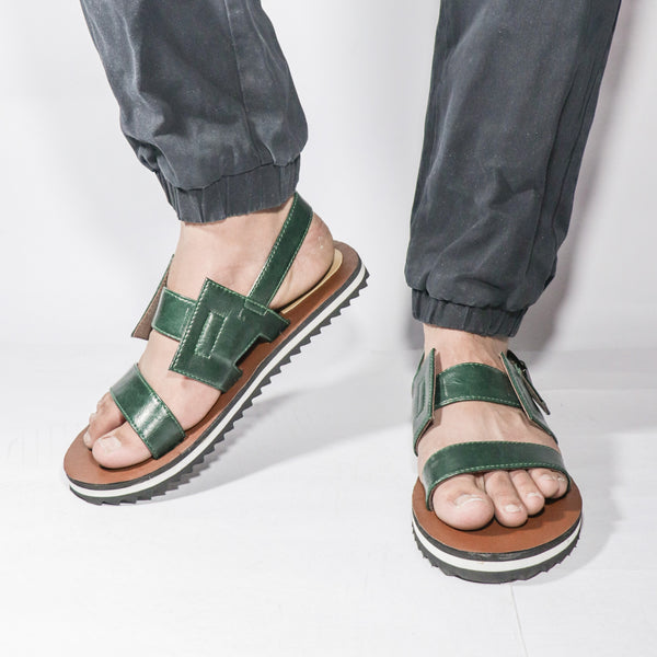 Dark Green Men's Sandal - Presa