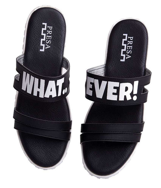 WHATEVER BLACK FOOTWEAR - Presa