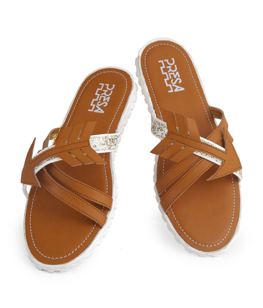 ARROWHEADS LIGHT BROWN FOOTWEAR - Presa