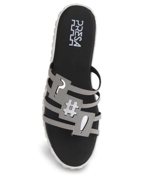 BLINGY CHAOS GREY FOOTWEAR - Presa