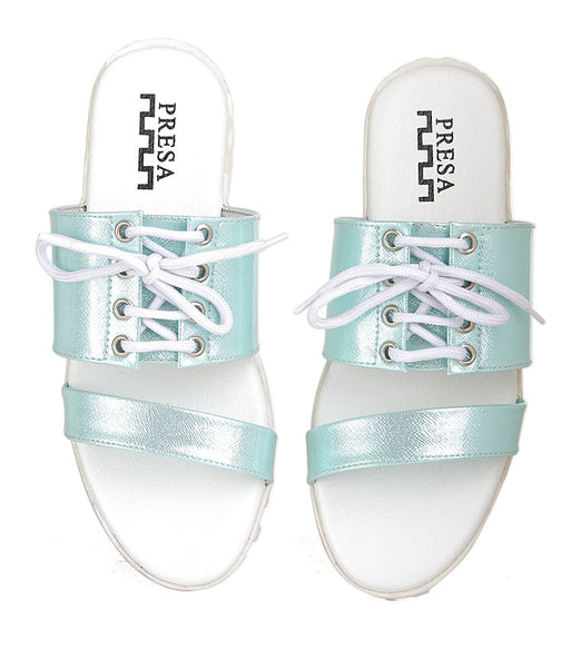ROPED IN -BLUE FOOTWEAR - Presa