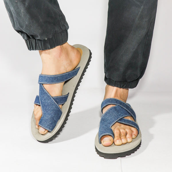 Denim Thong Sliders - Presa
