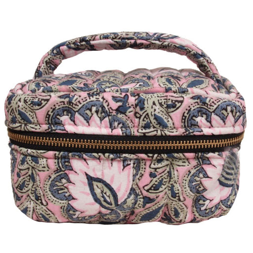 Emily Make Up Bag Pink Leafs