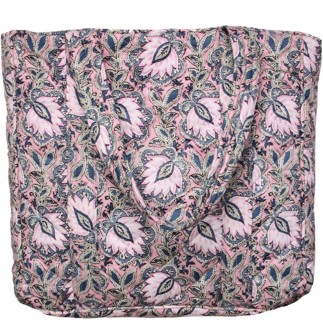 Smilla Medium Totebag Pink Leaf