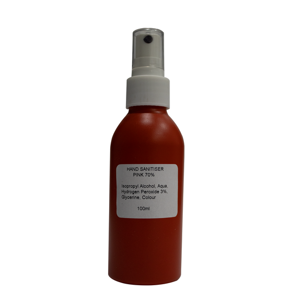 150ml Hand Sanitiser - Red Aluminium Bottle