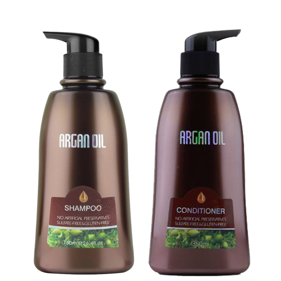 750ml Argan Oil Sulfate Free Shampoo & Conditioner Set
