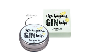 Happy Hour Lemon Flavoured Lip Balm - (Life Happens, Gin Helps) - 15g