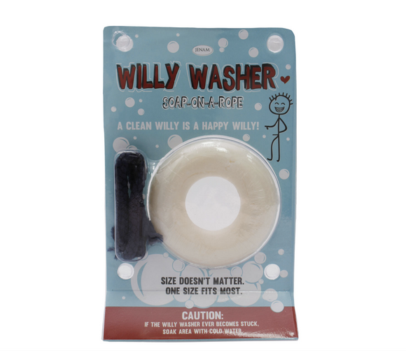 Quirky Valentines Willy Washer (Soap-on-a-rope) - 100g
