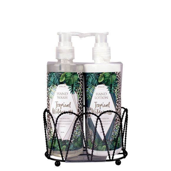 Tropical Wilderness 2 Pack Caddy (260ml Hand Wash & 260ml Hand Lotion)
