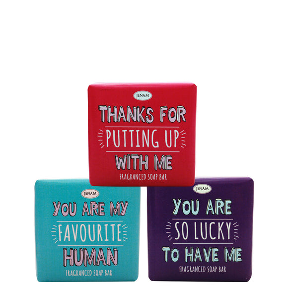 Quirky Valentines Soap Bar (Assorted Designs) - 90g