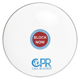 CPR Call Blocker Shield - Gloss White - Front - Freeze out cold, nuisance and unwanted callers. The Shield is the first of its kind at an affordable cost - NO monthly charges - Lifetime UK customer support - Personalise your service using the programming codes - only talk to who you want to - works with your existing phone line