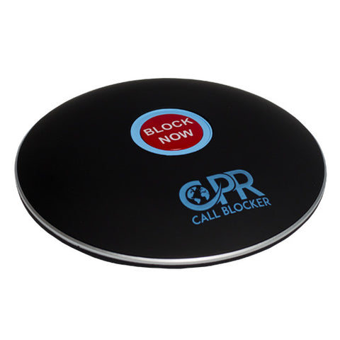 CPR Call Blocker Shield - Matt Black - Side - Freeze out cold, nuisance and unwanted callers. The Shield is the first of its kind at an affordable cost - NO monthly charges - Lifetime UK customer support - Personalise your service using the programming codes - only talk to who you want to - works with your existing phoneline