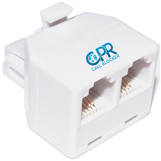 CPR phone splitter, one male socket to two female sockets