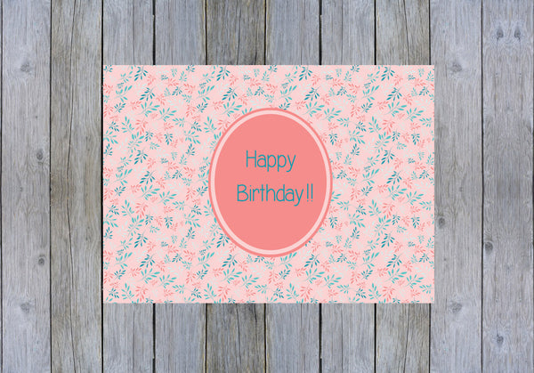 Carte Happy Birthday à imprimer PDF