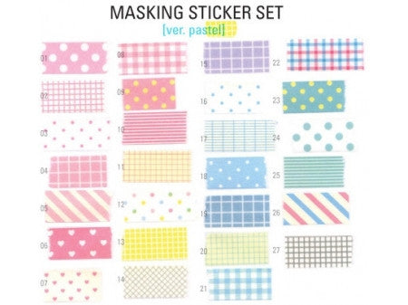 Masking sticker set kawaii Version Pastel - Kisuniji - 4