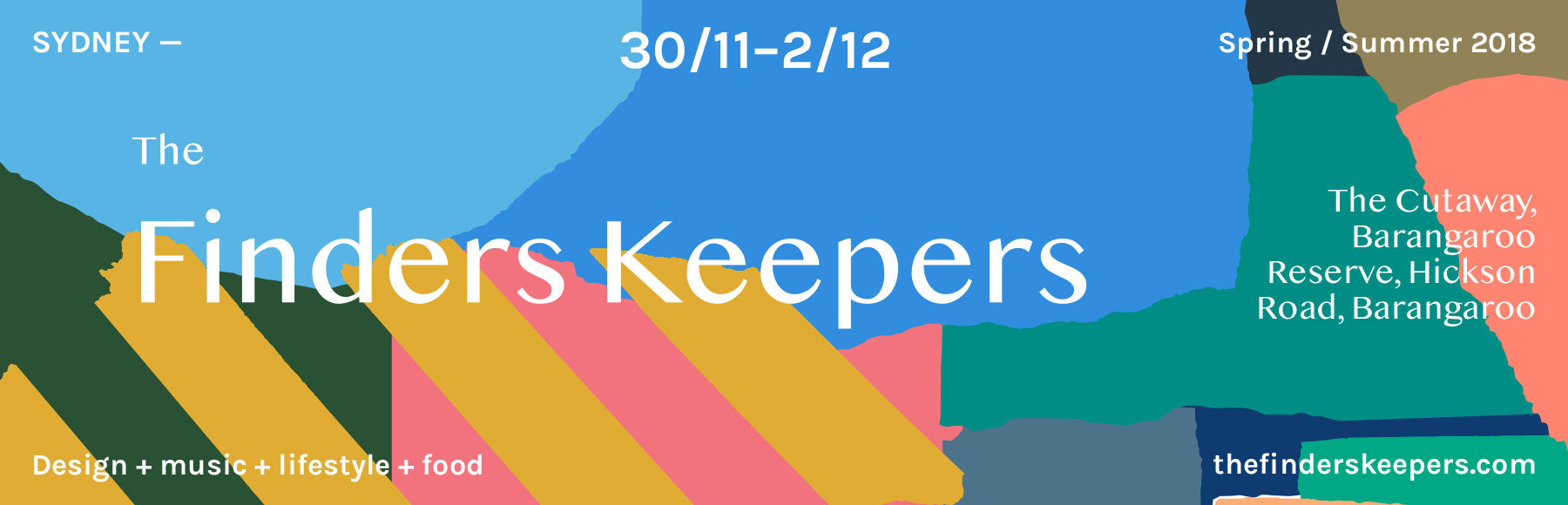 See us at Sydney Finders Keepers 30 Nov - 2 Dec 2018 at The Cutaway, Barangaroo Reserve