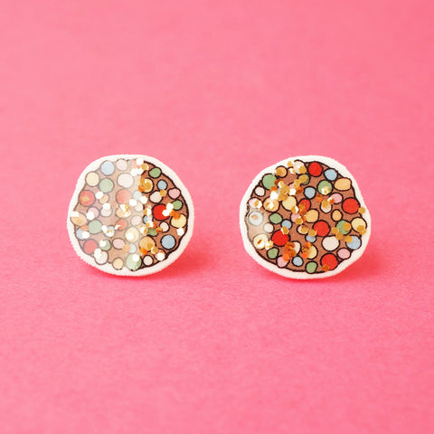 Earrings: Freckle Glitter Stud Earrings