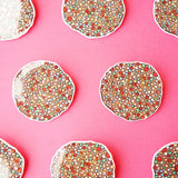Badge: Freckle Glitter Brooch/Button